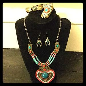 Jewelry - Tibetan Eye Candy 4 piece Jewelry Set